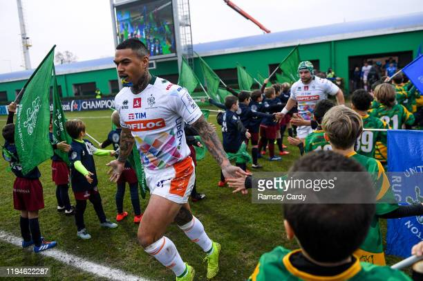 Treviso Italy 18 January 2020 Monty Ioane of Benetton ahead of the Heineken Champions Cup Pool 1 Round 6 match between Benetton and Leinster at the...