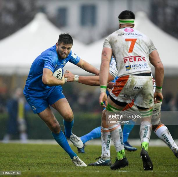 Treviso Italy 18 January 2020 Ross Byrne of Leinster during the Heineken Champions Cup Pool 1 Round 6 match between Benetton and Leinster at the...