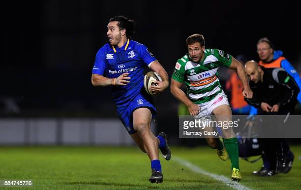 Treviso Italy 2 December 2017 James Lowe of Leinster during the Guinness PRO14 Round 10 match between Benetton and Leinster at the Stadio Comunale di...