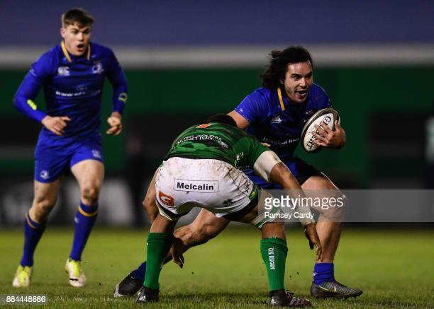 Treviso Italy 2 December 2017 James Lowe of Leinster in action against Nasi Manu of Benetton during the Guinness PRO14 Round 10 match between...