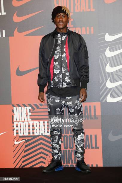 Trevoh Chalobah attends in celebration of the 20th anniversary of Nike's most iconic football boot some of the world's best footballers arrive in...