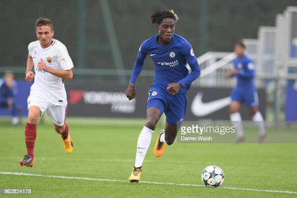 Trevoh Chalobah of Chelsea during the UEFA Youth League group C match between Chelsea FC U19 and AS Roma U19 at Chelsea Training Ground on October 18...