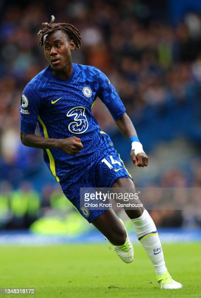 Trevoh Chalobah of Chelsea FC during the Premier League match between Chelsea and Norwich City at Stamford Bridge on October 23, 2021 in London,...