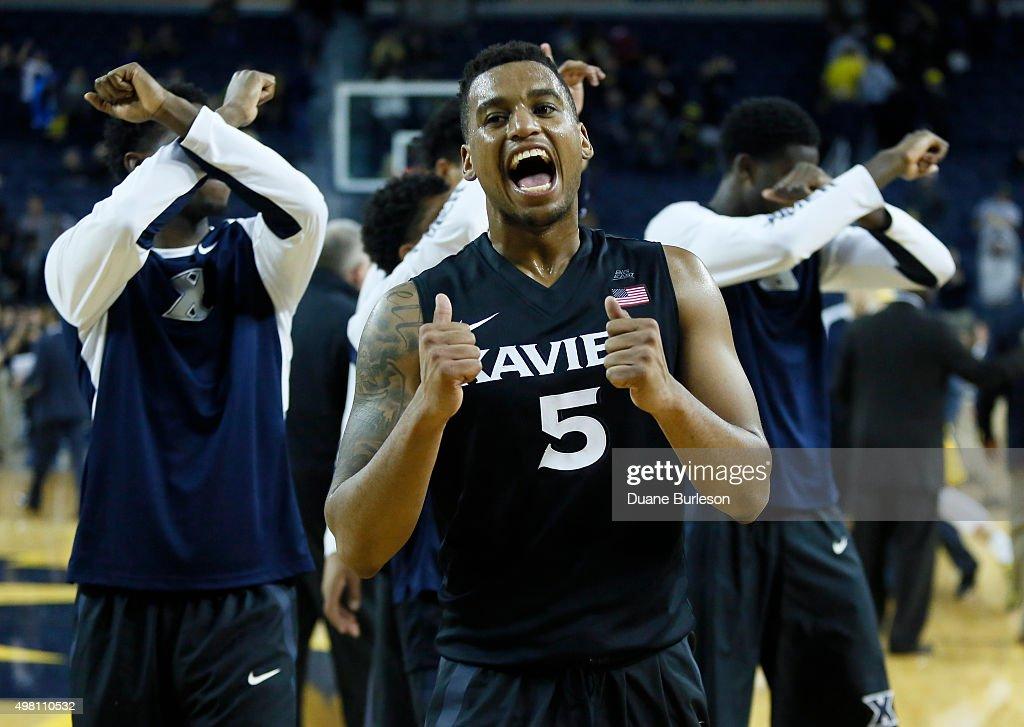 Xavier v Michigan : News Photo