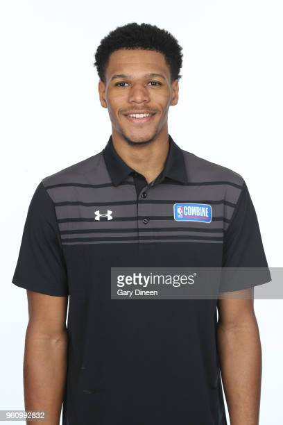 Trevon Duval poses for a head shot at the Body Image station for the Medical Evaluation portion of the 2018 NBA Combine powered by Under Armour on...