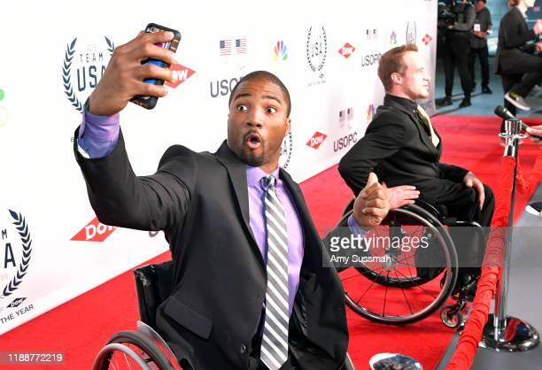 Trevon Jenifer and John Boie attend the 2019 Team USA Awards at Universal Studios Hollywood on November 19 2019 in Universal City California