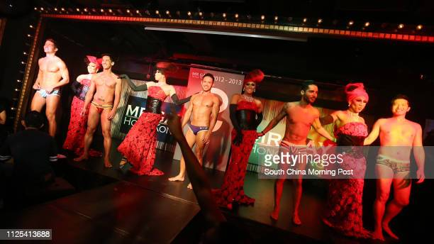Trevor Alt , Benjie Caraig , Donny De Silva , Raul Franco and Dickson Lau at Mr Gay Hong Kong pageant finale at LKF Tower, Lan Kwai Fong in Central....