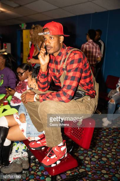 Trevor Ariza attends the 7th Annual 90's Skate Night Fundraiser hosted by Delon Dorell and Mia Wright at Skateland on August 10 2018 in Northridge...