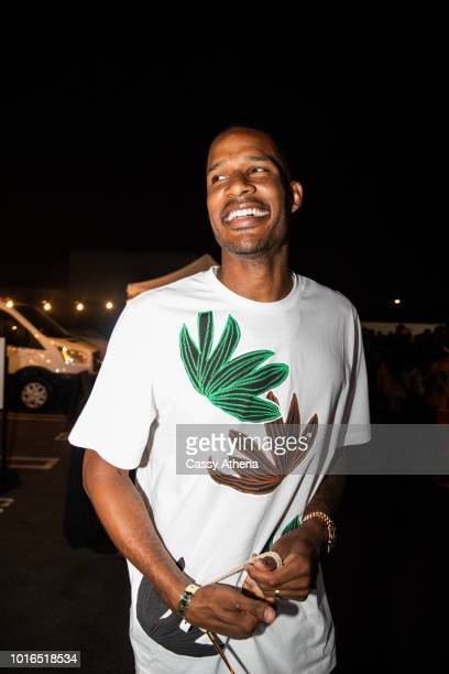 Trevor Ariza attends the Smoke 4 a Cure event hosted by Matt Barnes and Snoop Dogg at Snoop Dogg's Compound on August 9 2018 in Inglewood California