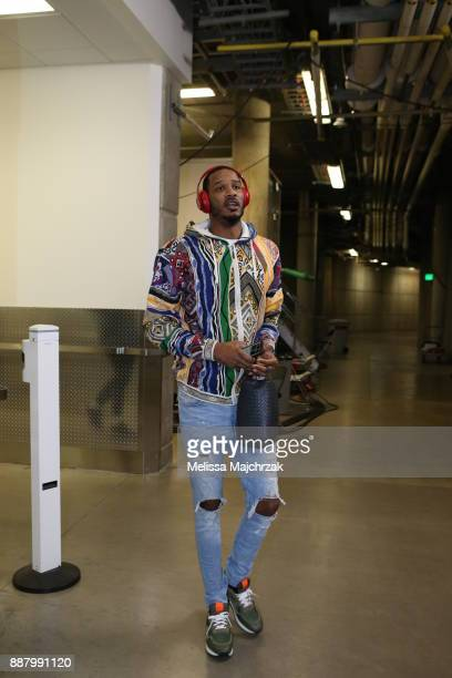 Trevor Ariza of the Houston Rockets arrives to the arena prior to the game against the Utah Jazz on December 7 2017 at VivintSmartHome Arena in Salt...