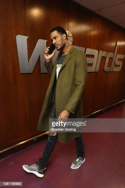 Trevor Ariza of the Washington Wizards arrives prior to a game against the Milwaukee Bucks on January 11 2019 at Capital One Arena in Washington DC...