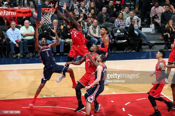 Trevor Ariza of the Washington Wizards goes to the basket against the Toronto Raptors on January 13 2019 at Capital One Arena in Washington DC NOTE...