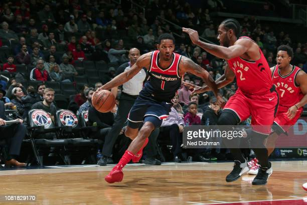 Trevor Ariza of the Washington Wizards handles the ball against the Toronto Raptors on January 13 2019 at Capital One Arena in Washington DC NOTE TO...