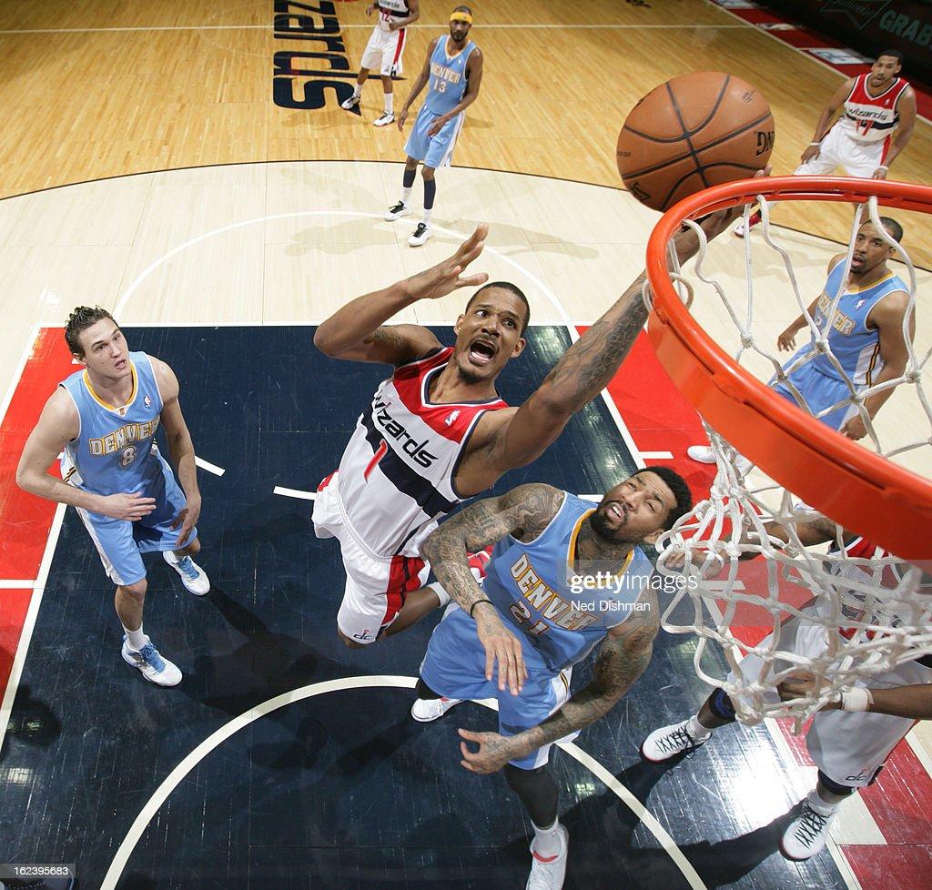 Denver Nuggets X Washington Wizards: Trevor Ariza Of The Washington Wizards Shoots Against