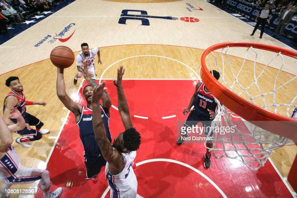 Trevor Ariza of the Washington Wizards shoots the ball against the Philadelphia 76ers on January 9 2019 at Capital One Arena in Washington DC NOTE TO...