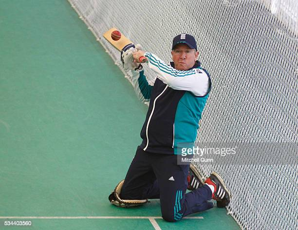 Trevor Bayliss Head Coach during England Nets session ahead of the 2nd Investec Test match between England and Sri Lanka at Emirates Durham ICG on...