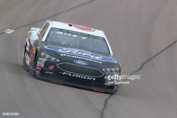 Trevor Bayne Roush Fenway Racing Ford Fusion during final practice for the Pennzoil 400 Saturday March 3 at Las Vegas Motor Speedway in Las Vegas...