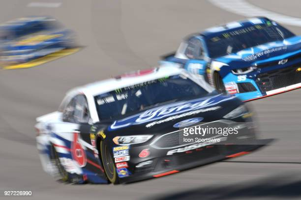 Trevor Bayne Roush Fenway Racing Ford Fusion during the Pennzoil 400 Monster Energy NASCAR Cup Series race on March 4 at Las Vegas Motor Speedway in...