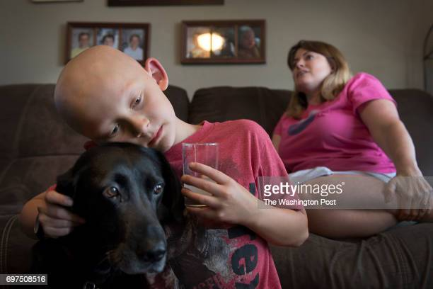 Trevor Beckermann age 7 and mother Meagan Beckerman at home located near the West Lake Landfill in the greater St Louis MO on June 1 2017 West Lake...
