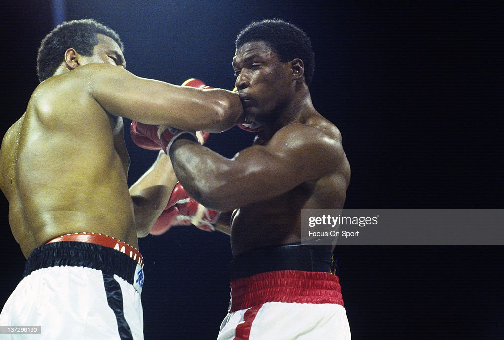 Trevor Berbick, right, exchange punches with Mohammad Ali, left, during a heavyweight fight December 11, 1981 at the Queen Elizabeth Sports Centre in Nassau, Commonwealth of the Bahamas. Berbick won the fight in a ten round unanimous decision.