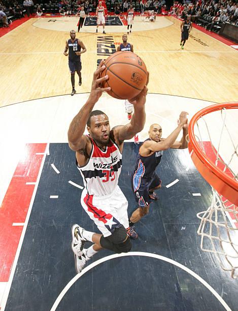 Trevor Booker of the Washington Wizards vs. Bobcats.