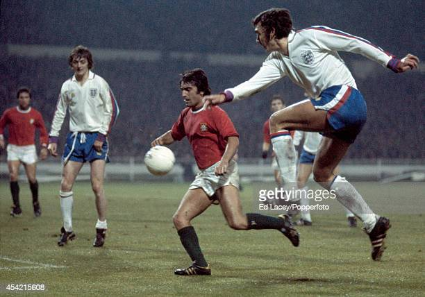 Trevor Brooking of England in action against Portugal during the European Championship Qualifying match at Wembley Stadium in London on 20th November...