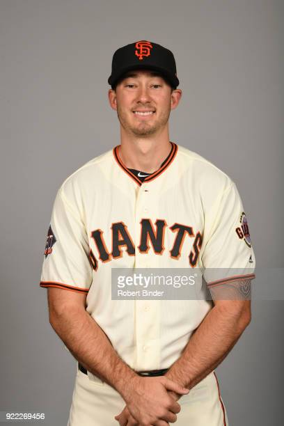 Trevor Brown of the San Francisco Giants poses during Photo Day on Tuesday February 20 2018 at Scottsdale Stadium in Scottsdale Arizona