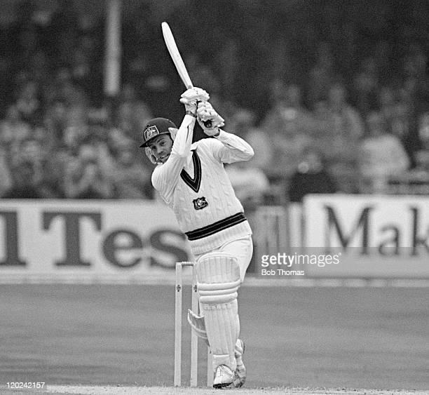 Trevor Chappell batting for Australia during the 1st Test match against England at Trent Bridge in Nottingham 21st June 1981 Australia won by four...