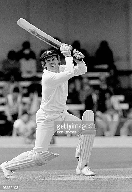 Trevor Chappell of Australia batting against India during the Prudential Cricket World Cup match held at Trent Bridge Nottingham on 13th June 1983...