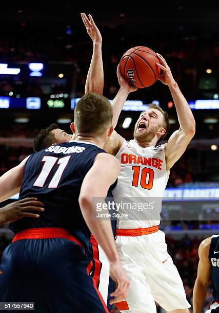 Trevor Cooney of the Syracuse Orange shoots against the Gonzaga Bulldogs in the first half during the 2016 NCAA Men's Basketball Tournament Midwest...