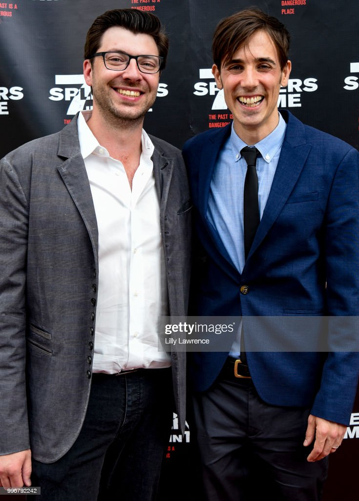Trevor Crafts and Gabriel Judet-Weinshel arrive at the '7 Splinters In Time' Premiere at Laemmle Music Hall on July 11, 2018 in Beverly Hills, California.