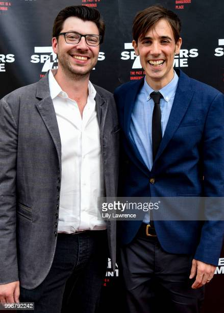 Trevor Crafts and Gabriel JudetWeinshel arrive at the '7 Splinters In Time' Premiere at Laemmle Music Hall on July 11 2018 in Beverly Hills California