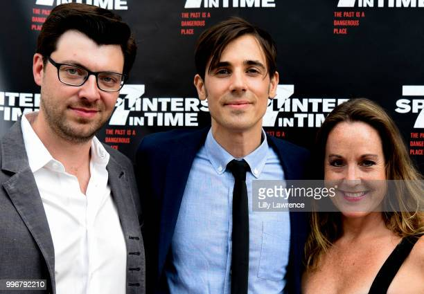 Trevor Crafts Gabriel JudetWeinshel and Aimee Schoof arrive at the '7 Splinters In Time' Premiere at Laemmle Music Hall on July 11 2018 in Beverly...