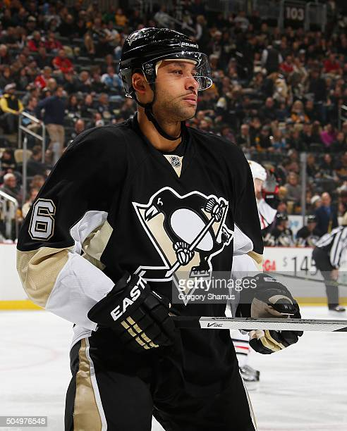 Trevor Daley of the Pittsburgh Penguins skates against the Chicago Blackhawks at Consol Energy Center on January 5 2016 in Pittsburgh Pennsylvania