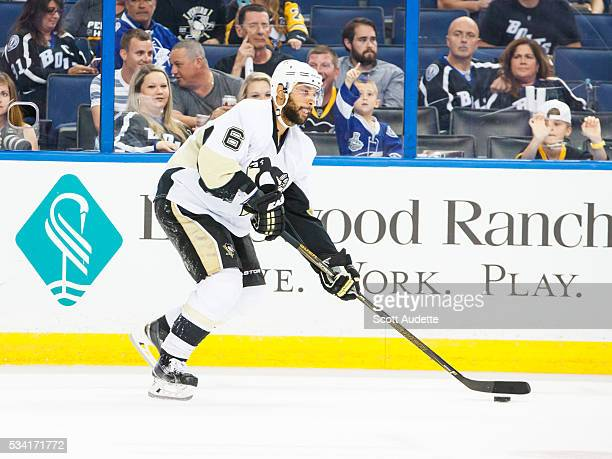 Trevor Daley of the Pittsburgh Penguins skates against the Tampa Bay Lightning during Game Three of the Eastern Conference Finals in the 2016 NHL...