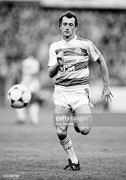 Trevor Francis of Queens Park Rangers in action against Norwich City in a Division One football match held at Loftus Road London on 2nd January 1989...