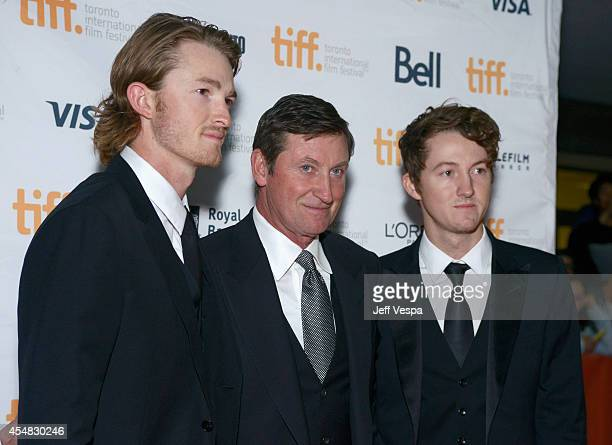 Trevor Gretzky Wayne Gretzky and Ty Gretzky attend The Sound And The Fury premiere during the 2014 Toronto International Film Festival at Ryerson...