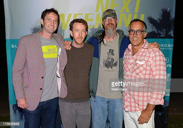 Trevor Groth, Chris Smith, Mark Borchardt and John Cooper pose at the Sundance Institute's Next Weekend Film Festival Kick-Off Party held at the...