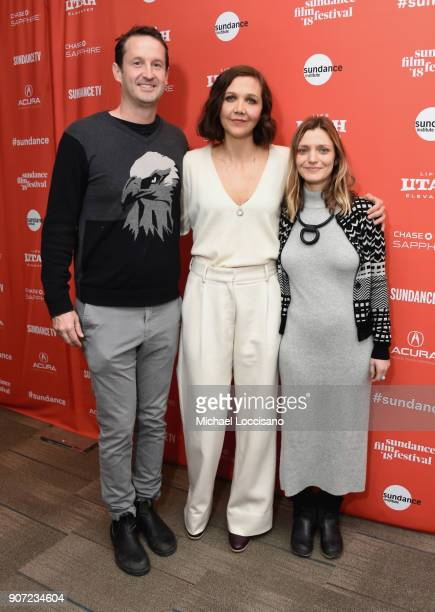 Trevor Groth Director of Programming of Sundance Film Festival actor Maggie Gyllenhaal and director Sara Colangelo attend the The Kindergarten...