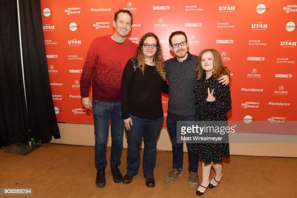 Trevor Groth Heidi Zwicker director Ari Aster and actor Milly Shapiro attend the 'Hereditary' Premiere during the 2018 Sundance Film Festival at...