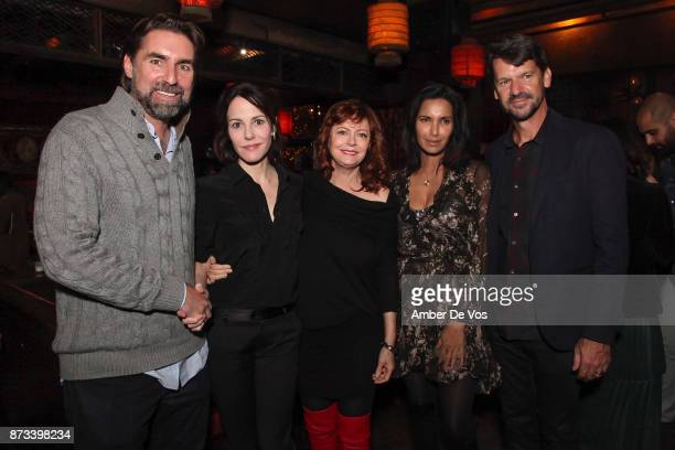 Trevor Hall MaryLouise Parker Susan Sarandon Padma Lakshmi and Thomas Morgan attend The Soufra Cookbook Launch Party cohosted by Rebelhouse Group and...