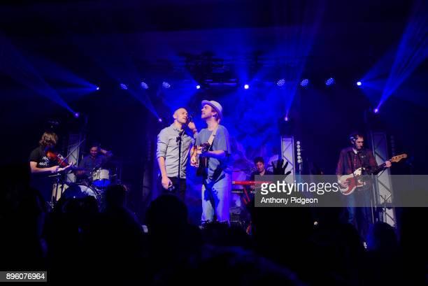 Trevor Hall performs on stage with guest Trevor Oswalt of East Forest at Wonder Ballroom Portland Oregon USA on 14th November 2017