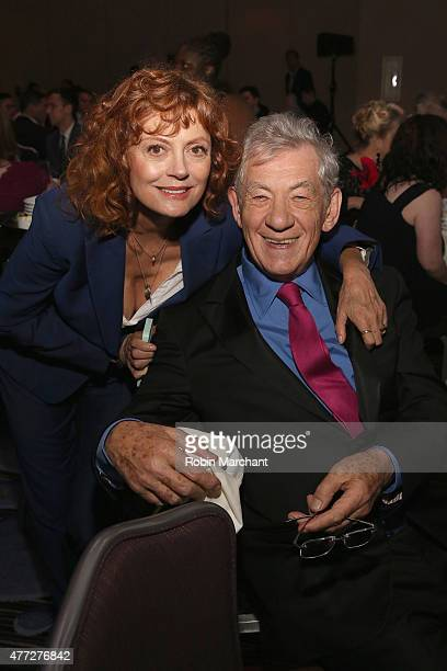 Trevor Hero Award recipient Sir Ian McKellen and Actor Susan Sarandon attend TrevorLIVE New York honoring Sir Ian McKellen Representative Ryan...