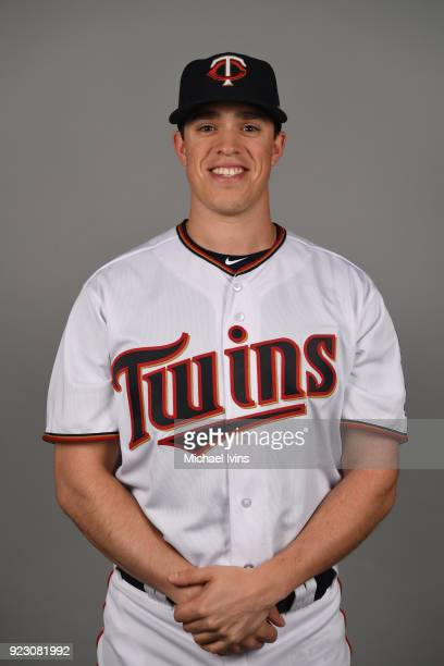 Trevor Hildenberger of the Minnesota Twins poses during Photo Day on Wednesday February 21 2018 at CenturyLink Sports Complex in Fort Myers Florida