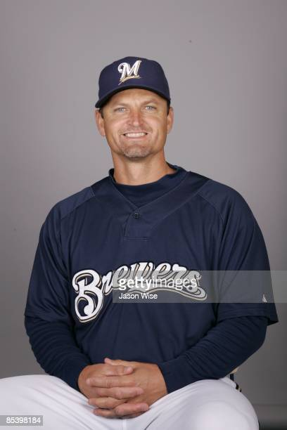 Trevor Hoffman of the Milwaukee Brewers poses during Photo Day on Thursday February 19 2009 at Maryvale Baseball Park in Phoenix Arizona