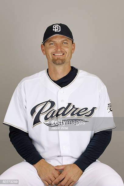 Trevor Hoffman of the San Diego Padres poses for a portrait during photo day at Peoria Stadium on February 26 2005 in Peoria Arizona