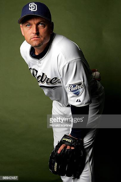 Trevor Hoffman of the San Diego Padres poses for a portrait during the San Diego Padres Photo Day on February 26 2006 at Peoria Sports Complex in...