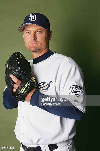 Trevor Hoffman poses for a portrait during the San Diego Padres Photo Day at Peoria Stadium on February 26 2006 in Peoria Arizona