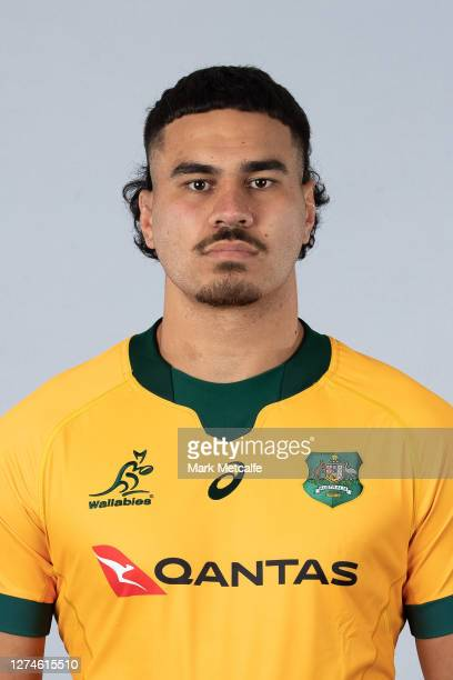 Trevor Hosea poses during the Australian Wallabies rugby team headshots session at the Crowne Plaza on September 21 2020 in the Hunter Valley...