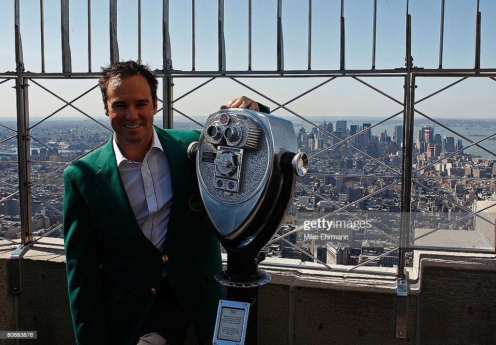 Trevor Immelman visits Empire State Building : News Photo